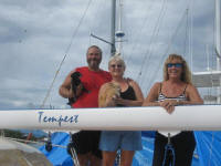 Annette & Bob Pace with Judy – S/V Tempest