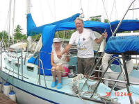 We arrived at Careening Cay Marina in Bocas del Toro, Panama on April 18, 2003 and have kept our Robert's 43' cutter there until Dec. 31, 2006. We found the marina owners, Mary and Mack Robertson, and the staff, to be very helpful, conscientious and kind.